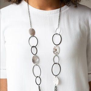 Kaleidoscope Coasts black necklace